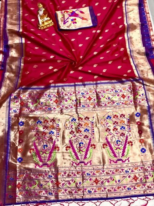 Adorable Design Soft Banarasi Silk Saree in Pink by grabandpack