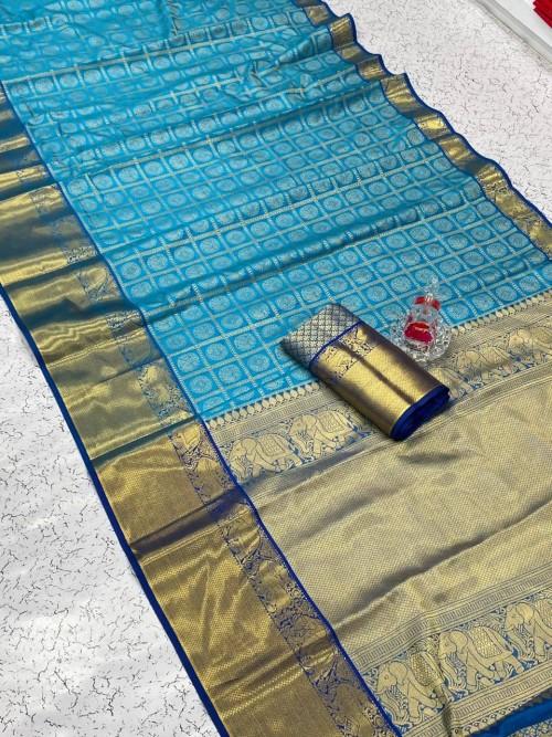 Sky Blue color saree best price