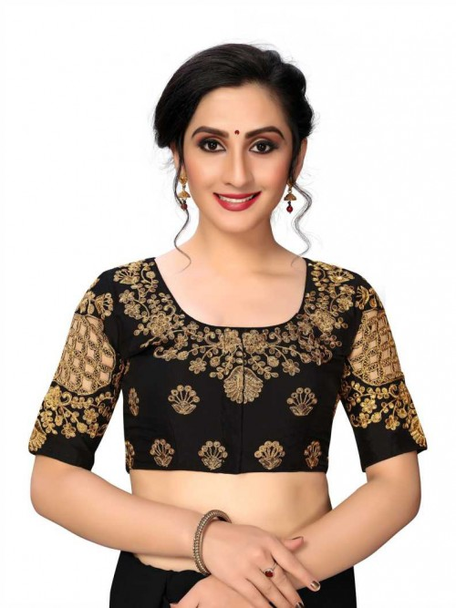 Black Color Readymade Blouse india gnp006431