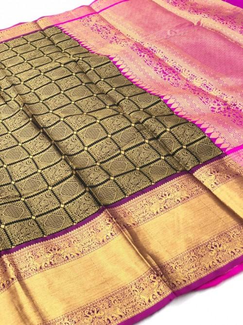 Kanchipuram Silk party wear saree