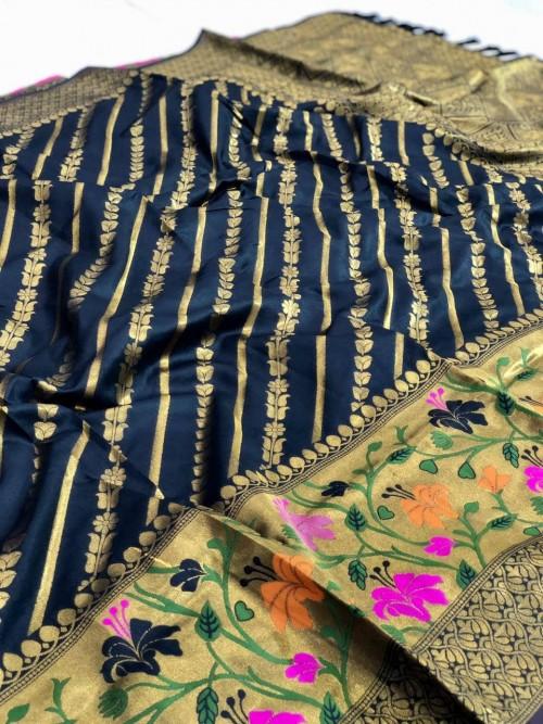 black saree party wear