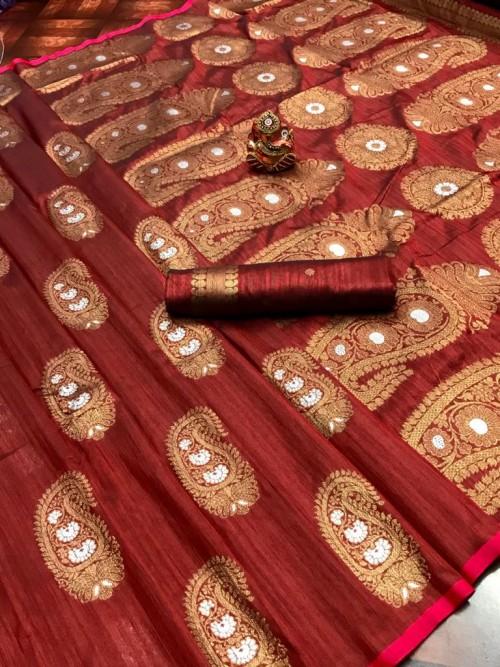 online party wear Brown saree
