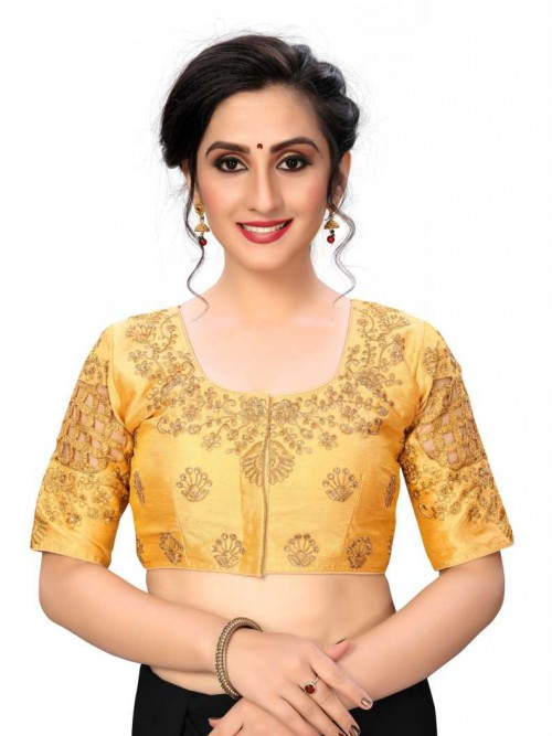 Gold Color Readymade Blouse india gnp006432