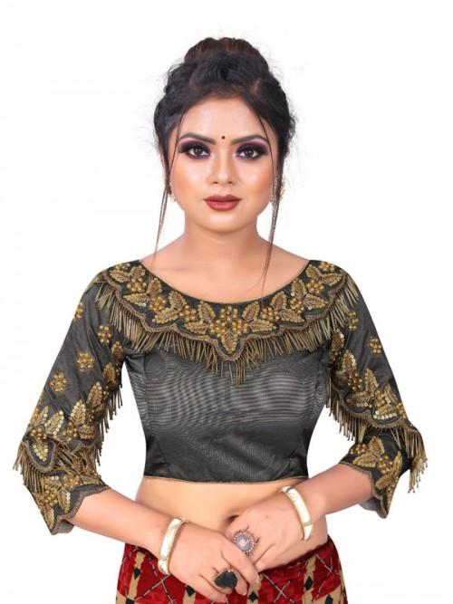 grey readymade blouse online gnp006486