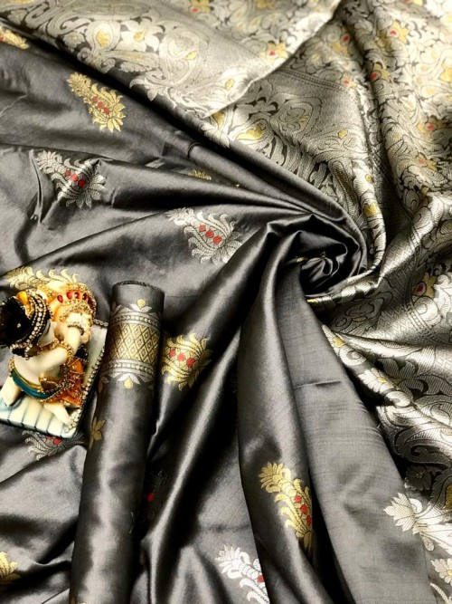 Lichi Silk With Weaving Zari Designer Saree