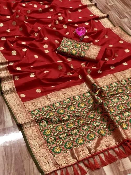 grabandpack Red saree india