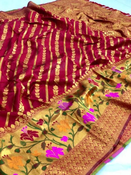 Jacquard saree