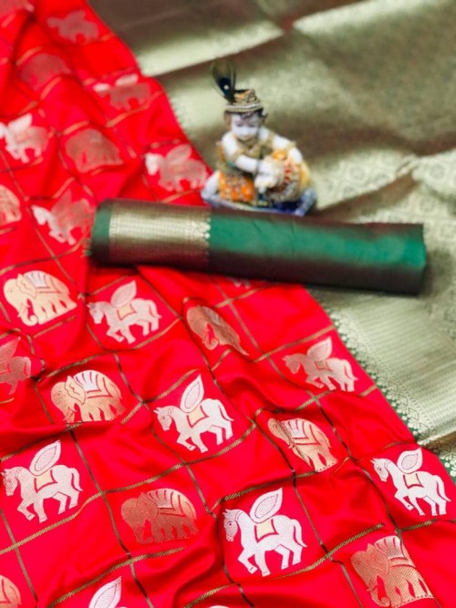 soft silk with gold and silver zari weaving work with rich look and rich pallu