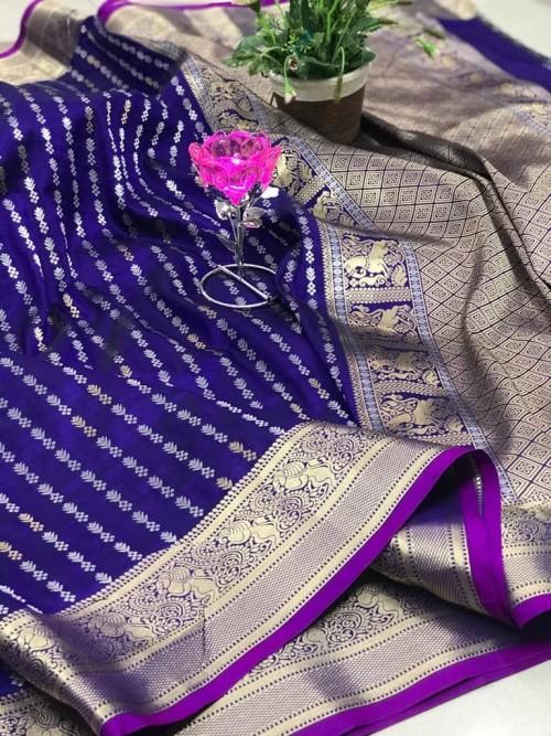 Purple Traditional Saree