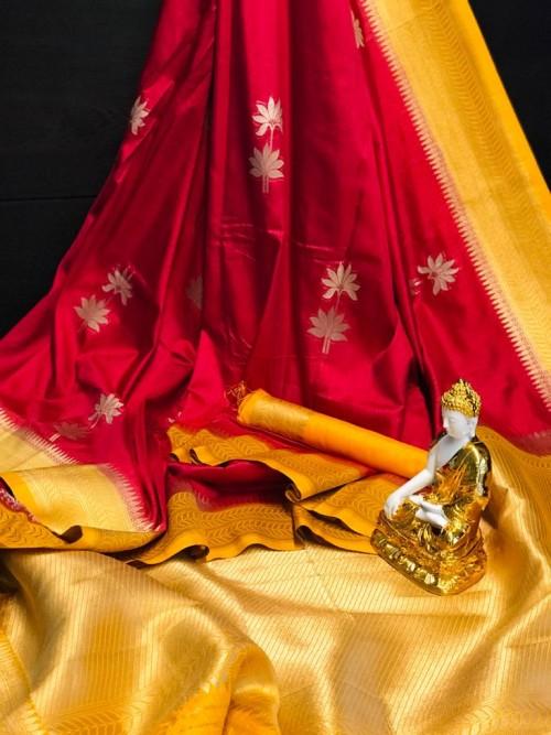 Designer Maroon Dola silk saree