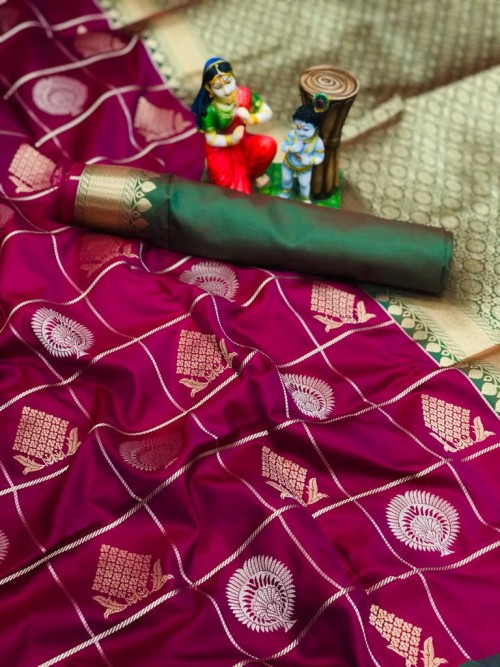 Purple color Soft silk saree