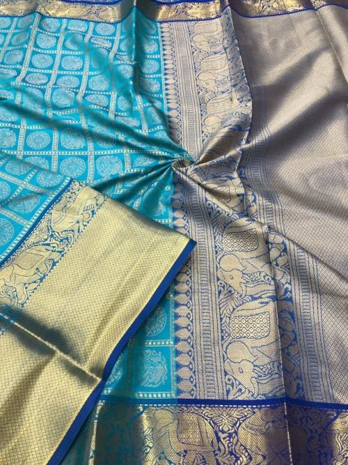 Sky Blue color saree online india