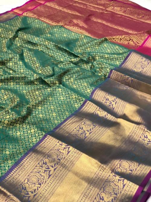 Green Traditional silk saree