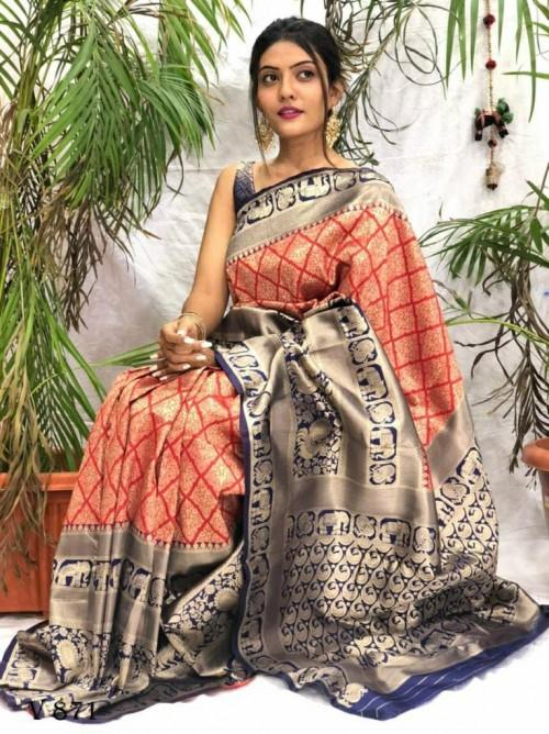 women's Gorgeous Banarasi Art Silk saree