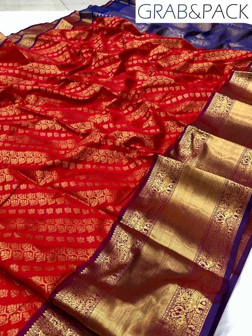 Red silk saree online