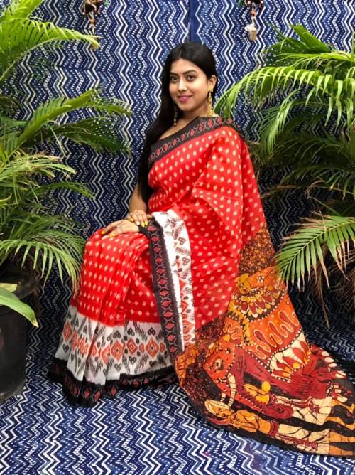 kalamkari saree by grabandpack