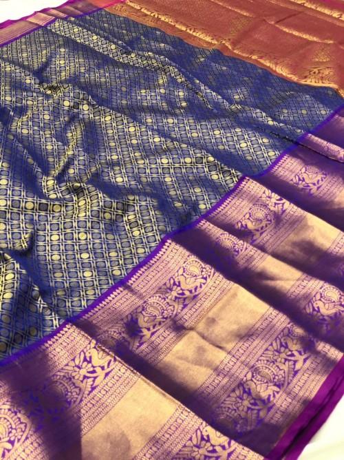 Blue Traditional silk saree
