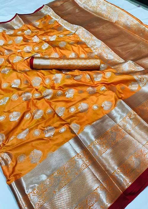 womens-lichi-silk-weaving-saree-in-orange-silk-sarees-online-gnp005986