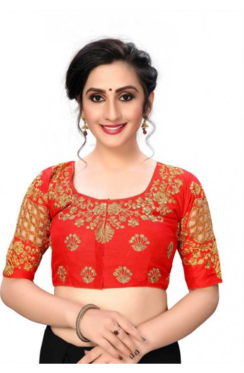 Red Color Readymade Blouse india gnp006437 - Buy Designer Blouse online