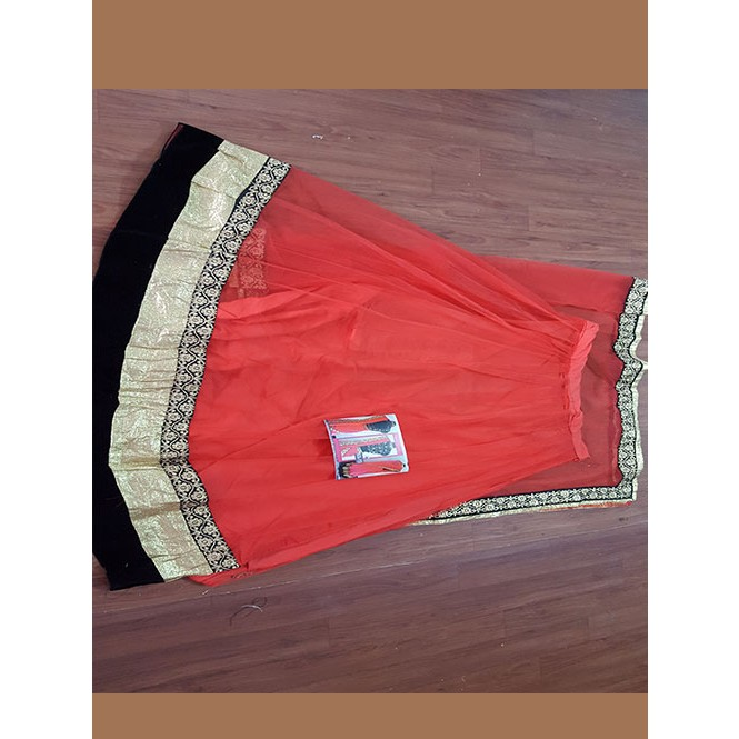 Peach colored beautiful net lehenga with matching choli - Matching colours with peach ...