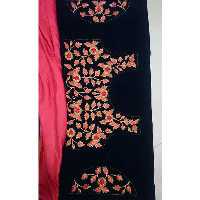 e2bef1bd11227e Peach Colored Beautiful Paper Silk Saree With Embroidered Blouse ...