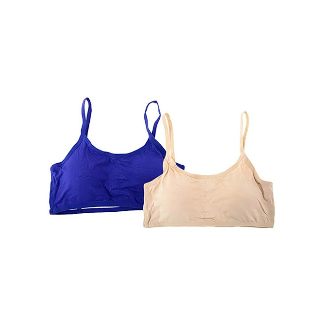 bb100b898 Six Strap Removable Padded Cotton Bra - Pack of 2 (Blue   Beige ...
