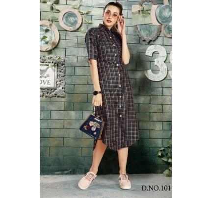 Get Glamer Multicoloured Cotton Shirt style Kurti - gnp006441