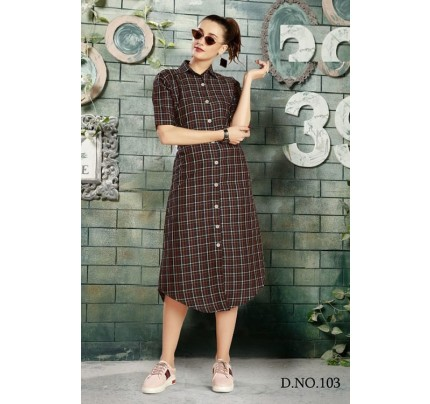 Get Glamer Multicoloured Cotton Shirt style Kurti - gnp006443