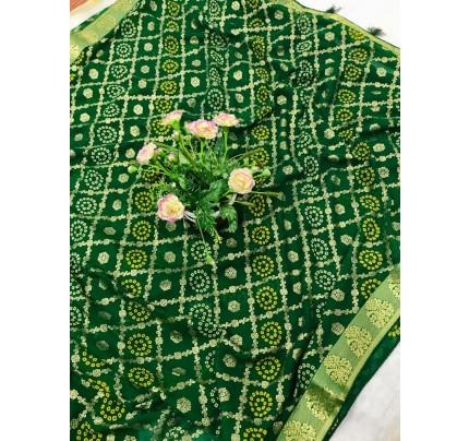Green Marble Chiffon Printed Saree by grabandpack gnp0107764