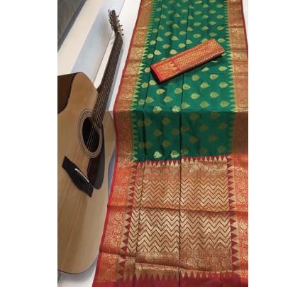 Green Soft Banarasi Silk Weaving Saree - gnp007953