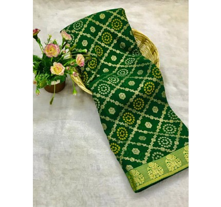 Green Marble Chiffon Printed Saree by grabandpack gnp0107769