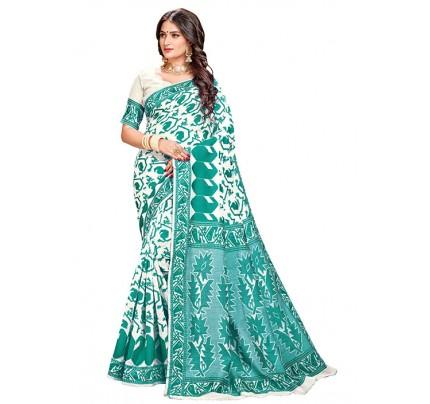 Rama Cotton Silk Woven Jamdani Sari