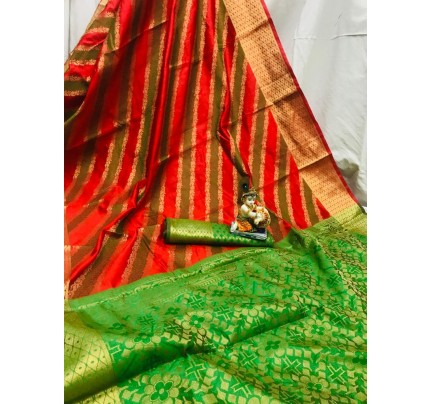 Red Soft Pure Banarasi Patola Saree with Beautiful Weaving - gnp010056