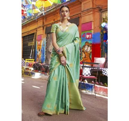 Trendy Green Color Banarasi Silk Women's Saree