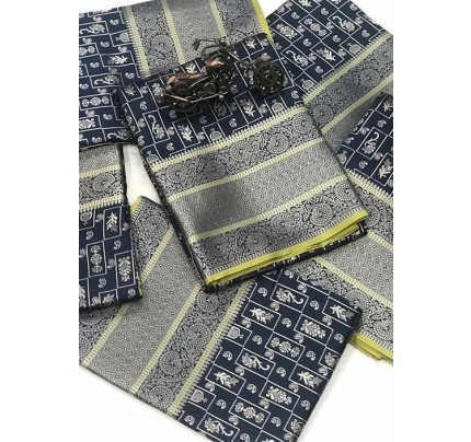 Women's Banarasi silk Weaving jacquard saree in Blue gnp005881
