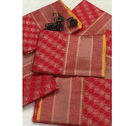Women's Banarasi silk Weaving jacquard saree in Red gnp005884