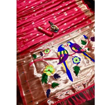 Women's Pink Kanchipuram saree gnp0107188 | GrabandPack