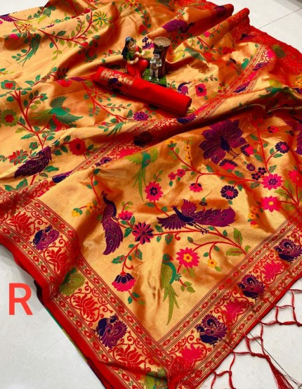 Pure Kanchipuram Paithani Silk Saree - gnp010065