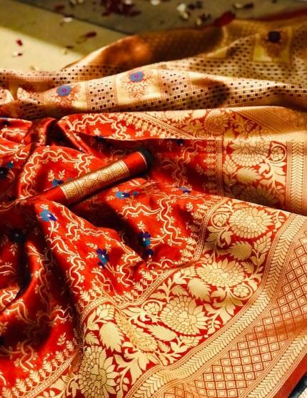 Banarasi saree look for reception