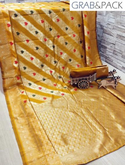 impressive and elegant Banarasi Soft silk saree