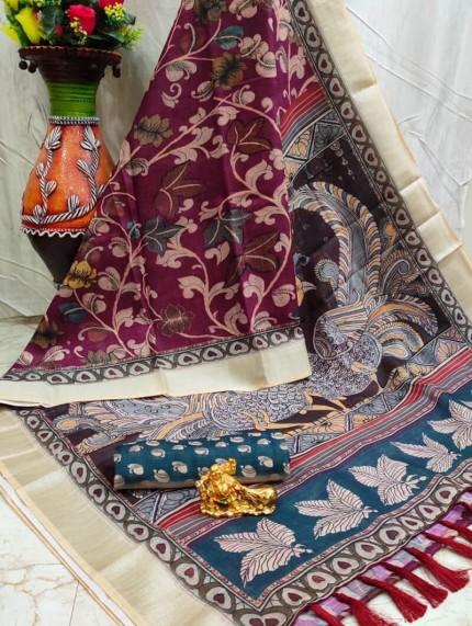 GrabandPack Linen saree