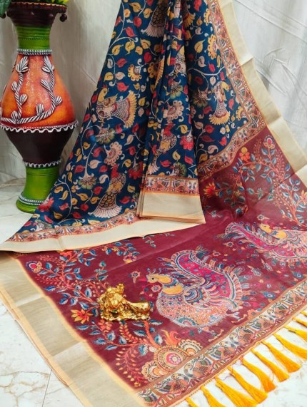 Grab and Pack linen silk sarees online shopping