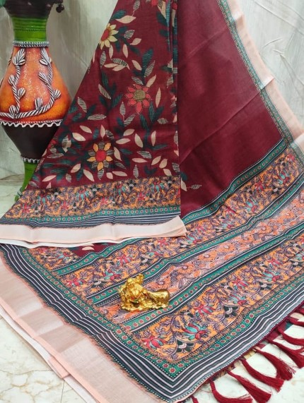 grab and pack Linen Saree