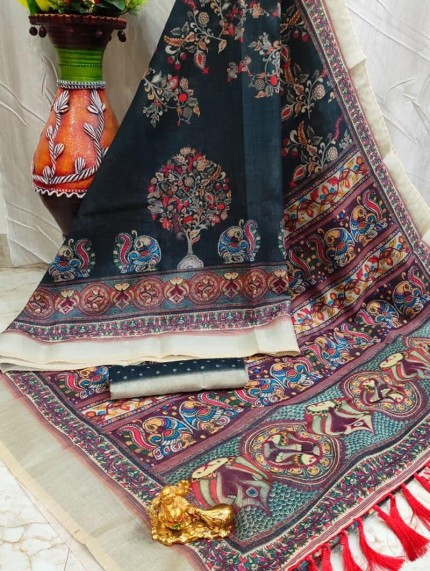 grabandpack elegant fashion wear linen sarees