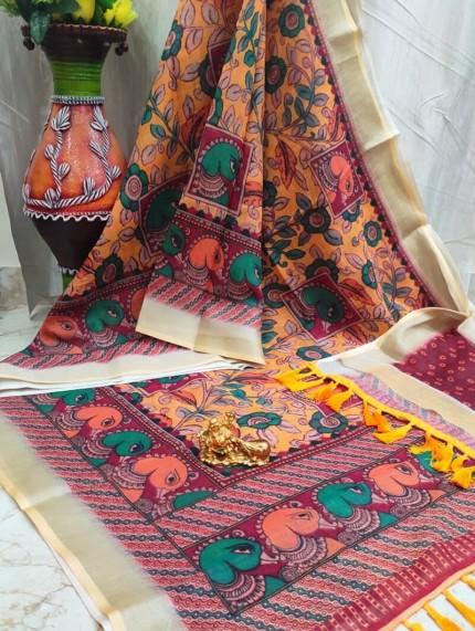 GrabandPack Latest Linen saree