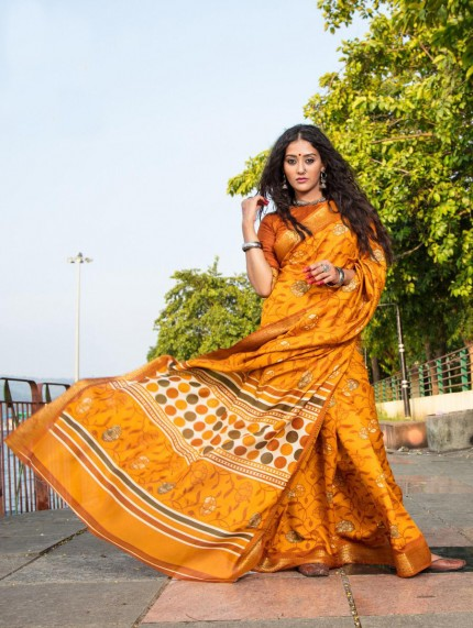 New Soft Cotton Printed Sarees collection by grabandpack
