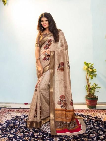 printed saree blouse design - Grabandpack.com