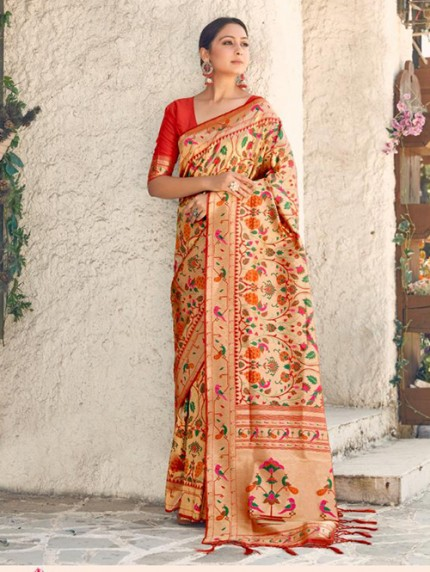 Beautiful Paithani Pure Weaving Silk Saree - gnp008889