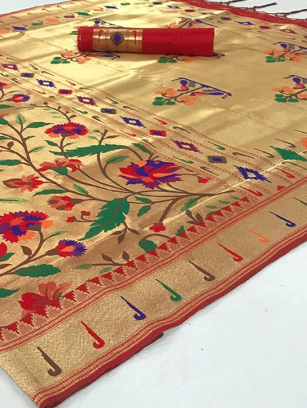Beautiful Paithani Pure Weaving Silk Saree - gnp008891
