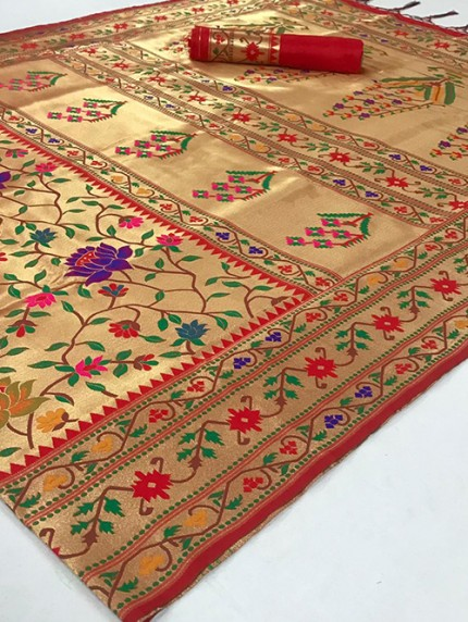 Beautiful Paithani Pure Weaving Silk Saree - gnp008893